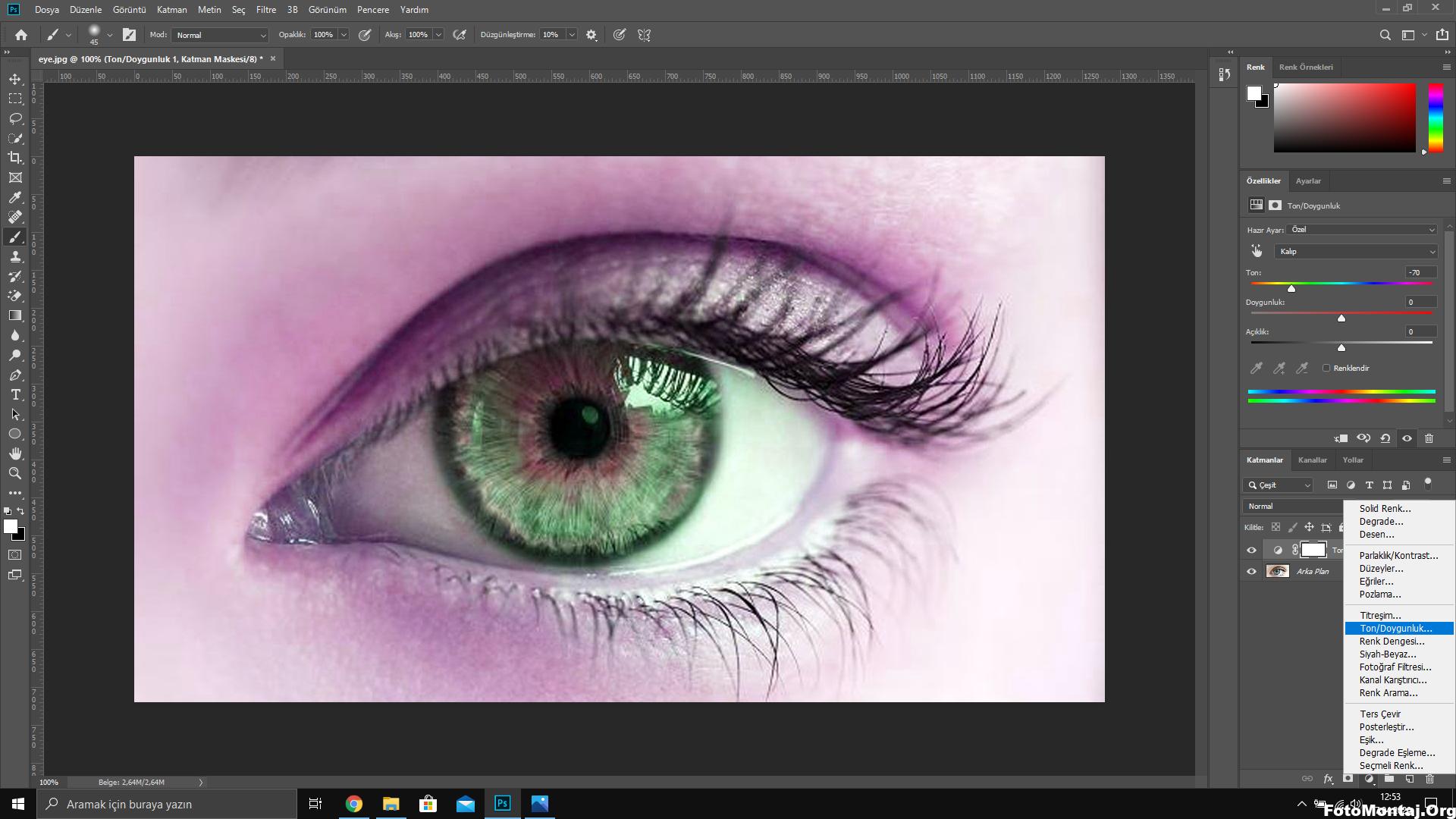 Photo of fotoshop ile göz rengi değiştirme
