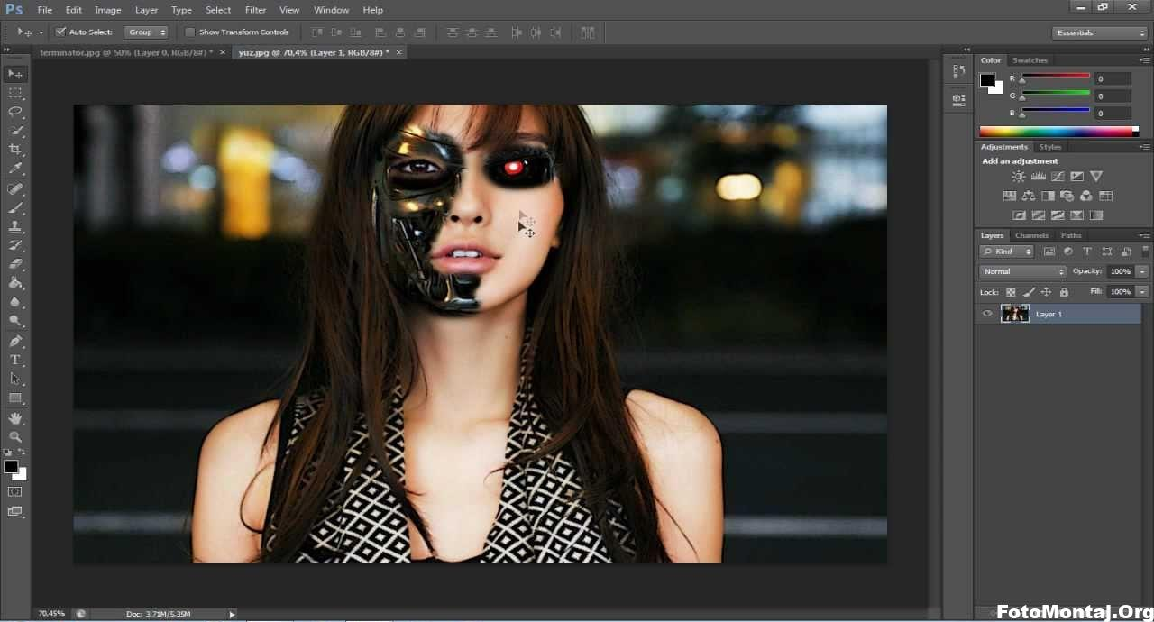 photoshopta yüzümü nasıl terminatöre çeviririm