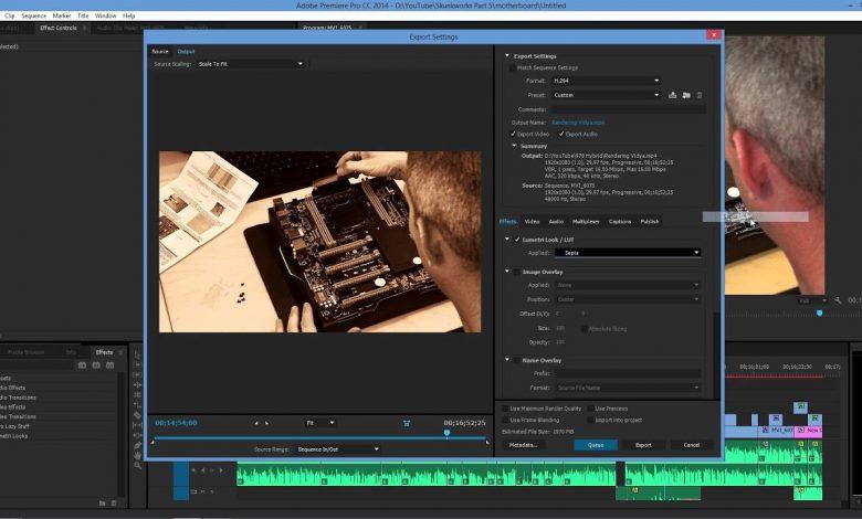 Adobe Premiere Pro Render Alma - Projeyi Tamamlama